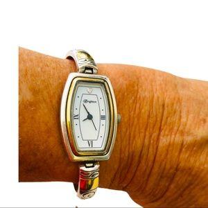 Brighton Venezia silver and gold tone toggle watch